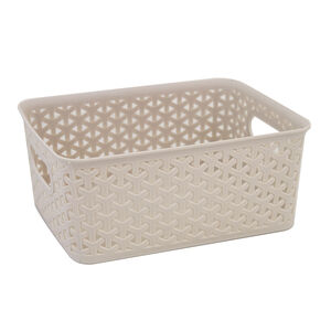 Geometric 4L Soft Grey Basket