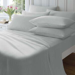 SINGLE FLAT SHEET Flannelette Grey