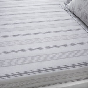 WHITNEY GREY Single Fitted Sheet