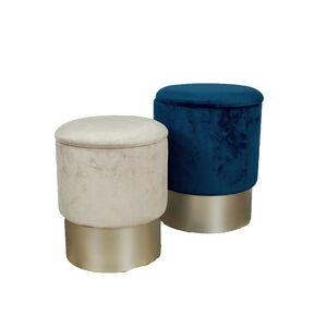 Karla Two Tone Stools Midnight/Silver - Set of 2