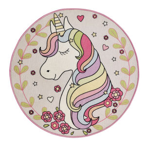 Unicorn Childrens Floormat 100cm - Round