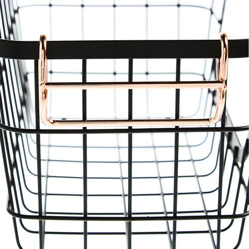 Stacking Basket - Black
