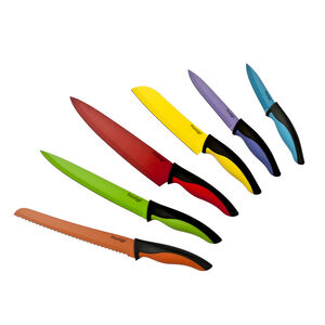 Prestige Non-Stick Multicoloured Knife Set 6 Piece