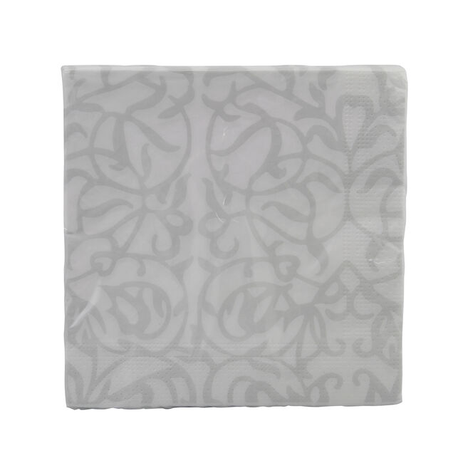 Ivy Napkin 20 Pack - Silver