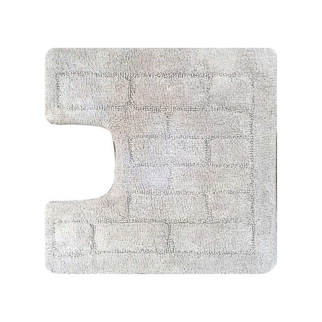 Cotton Brick Dove Grey Pedestal Mat 50cm x 50cm
