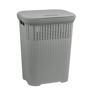 Knit Laundry Hamper Dark Grey