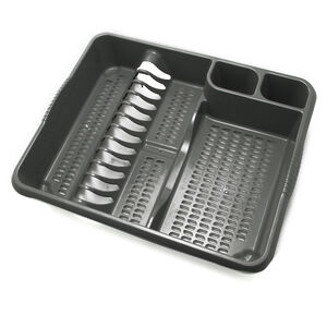 Large Dish Drainer Grey