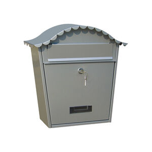 Silver Frame Wall Mounted Post Box