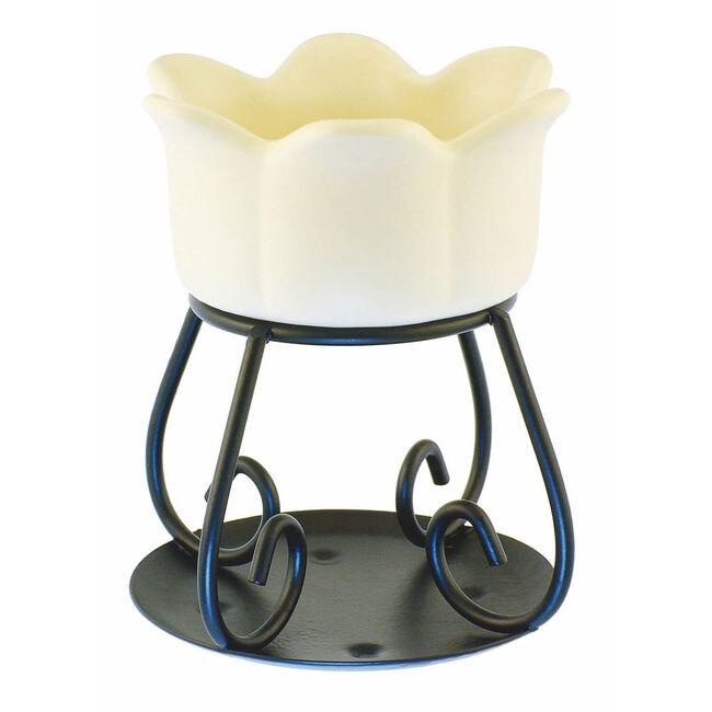Petal Bowl Tart Burner Cream