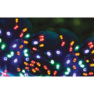 100 Multi Colour LED Solar String Lights