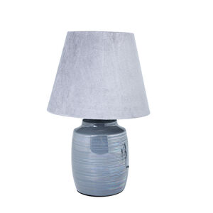 Glazed Table Lamp Grey
