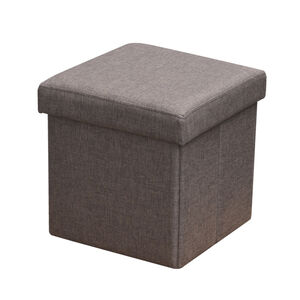 Deluxe Nut Brown Folding Ottoman