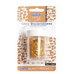 PME Edible Glitter Flakes 7.1g - Gold