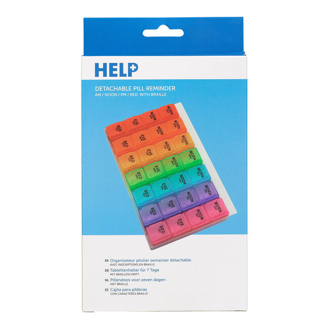 Help Weekly Pill Multiple Daily Detachable PillBox