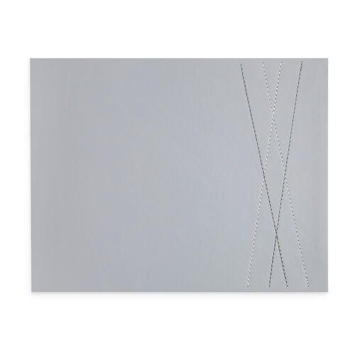 Reversible Leather Diamond Placemats 4 Pack - Grey