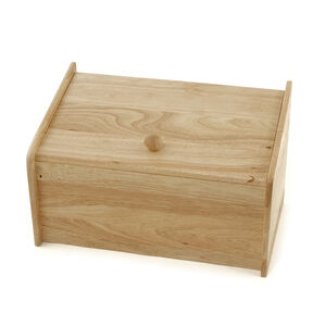 Rubberwood Bread Bin Drop Front