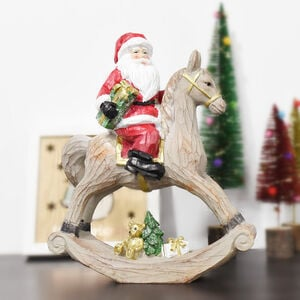 Santa on Rocking Horse 30cm