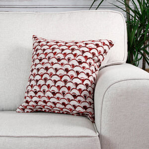 Aoife Fans Red Cushion 45cm x 45cm