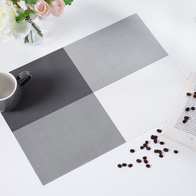Cube Woven Placemat - Grey