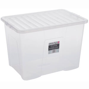 Crystal Box & Lid 80L  Clear