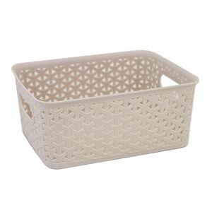 Geometric 4L Soft Grey Basket