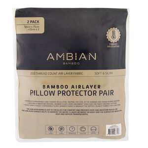 Bamboo Airlayer Pillow Protector Pair