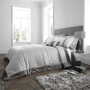 Classic Velvet Bedspread 240x260cm - Silver