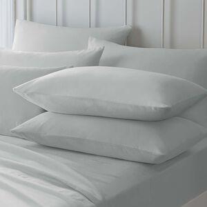 Pillowcase Pair Flannelette Grey