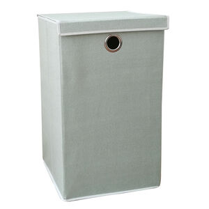 Tweed Mint Green Foldable Laundry Hamper