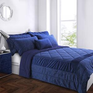 Allegra Bedspread 200x220cm - Navy