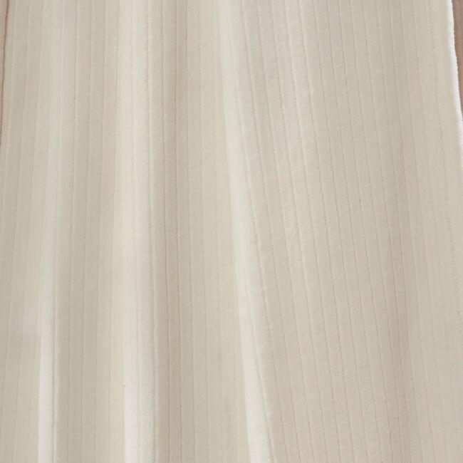 Nicole Day Etched Stripe Throw 150x200cm - Cream