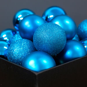 Blue Bauble Set - 20 Pack