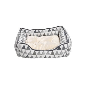 Perfect Paws Plush Geo Print Pet Bed - Small