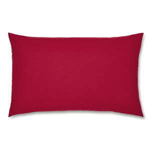 Luxury Percale Red Housewife Pillowcase Pair