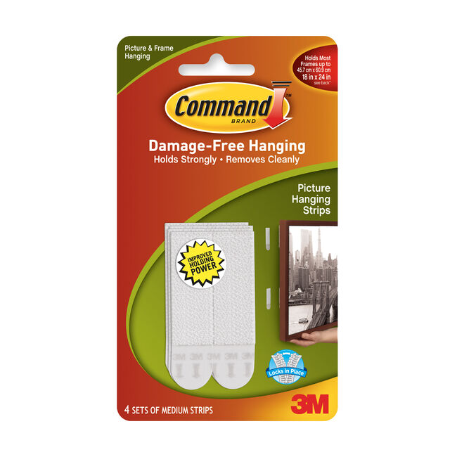 Command 4Pk Medium Picture Hanging Strips