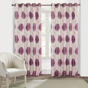 FLORAL BURST PURPLE 66x54 Curtain
