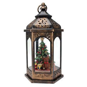 Light Up Lantern with Christmas Tree