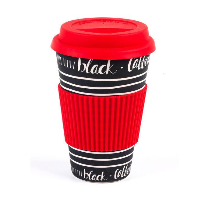 Caffeine Is The New Black Bamboo Sippy Mug