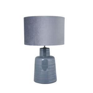 Antibes Glazed Table Lamp Grey