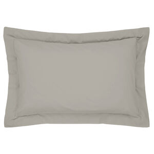 Luxury Percale Oxford Pillowcase Pair - Ice Grey
