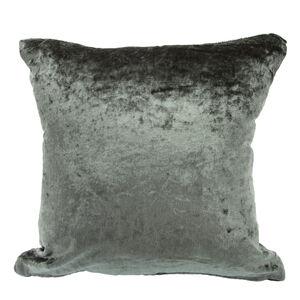 Velvet Crush Charcoal Cushion Cover 45cm x 45cm