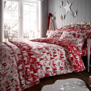 SINGLE DUVET COVER Christmas Toile