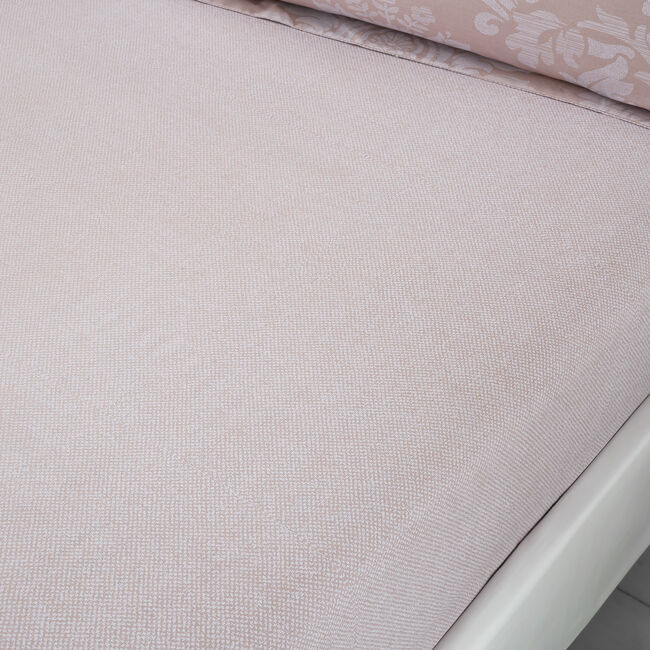 ELVIRA MAUVE Double Fitted Sheet