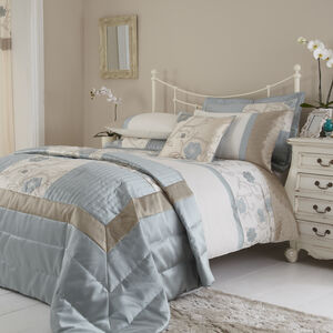 SINGLE DUVET COVER Alicia Duck Egg