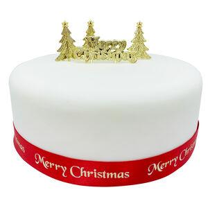 Golden Christmas Cake Decorating Kit