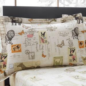 Safari Natural Oxford Pillowcase Pair