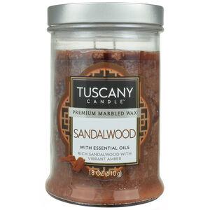 Tuscany 18oz Double Wick Candle Sandalwood