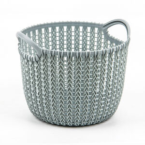 Knit Mint 3L Round Storage Basket