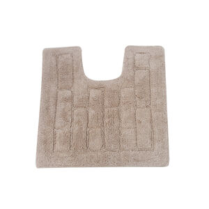 Cotton Brick Pedestal Mat Mocha