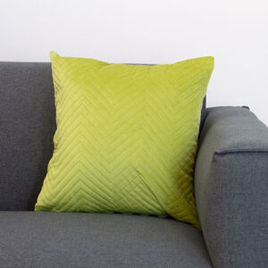Triangle Stitch Cushion 58x58cm - Lime